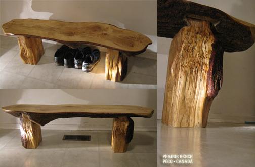Prairie Bench oak slab 01