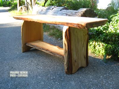 pb cedar slab benches 1