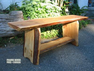 pb cedar slab benches 2