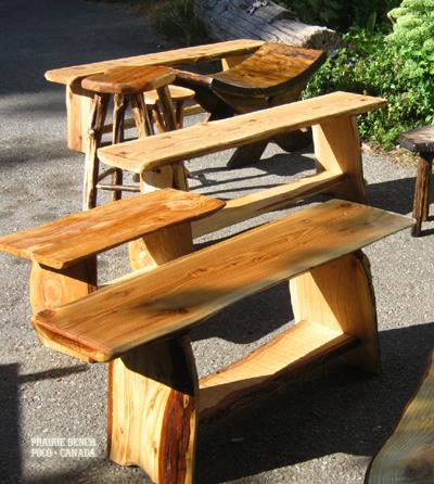 pb cedar slab benches 4