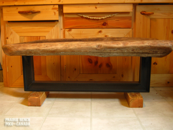 prairie bench cedar rail bench1