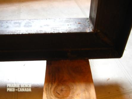 prairie bench cedar rail bench9