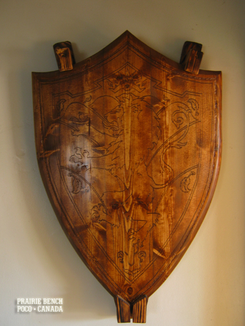prairie bench wooden crest 2
