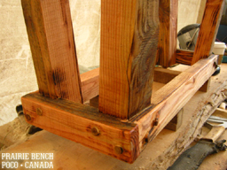 prairie bench hemlock bistro build