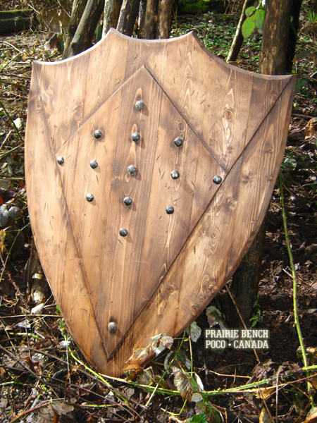 Prairie bench medieval shield 272 3