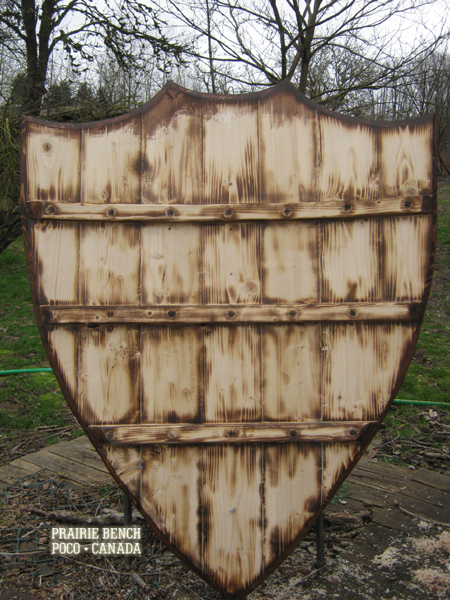 Prairie bench medieval shield 272 4