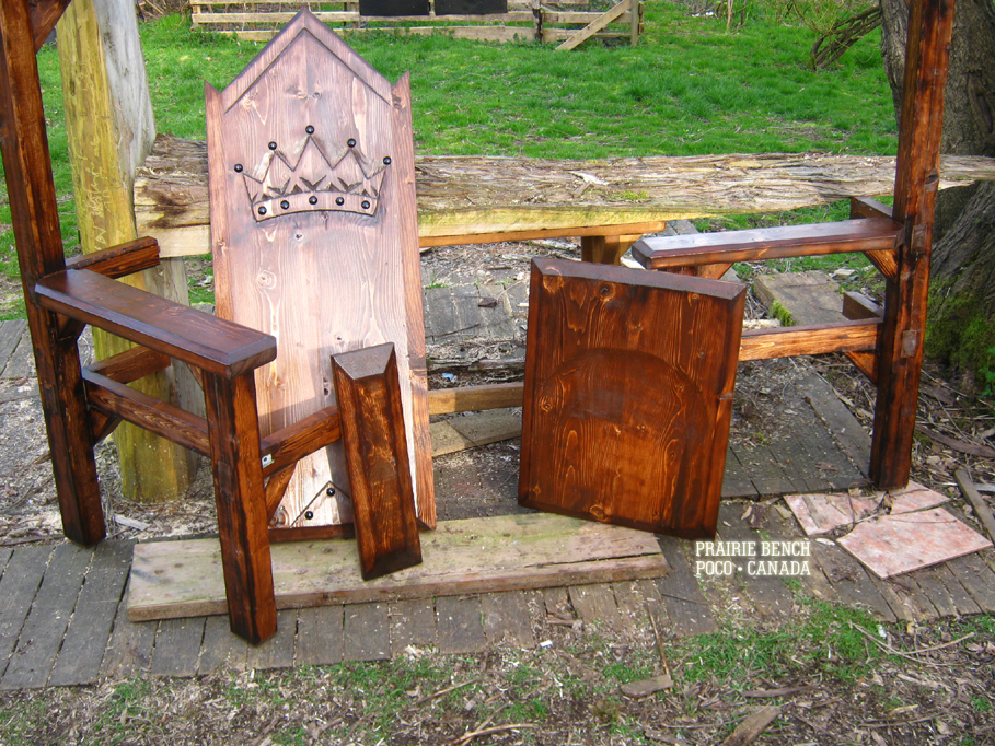 Prairie Bench crown throne replica 11