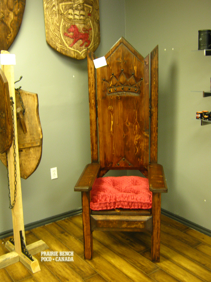 Prairie Bench crown throne replica 2
